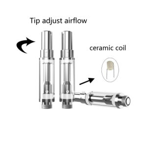 Adjustable Airflow Ceramic Coil 100% No Leaking Cbd Vaporizer / Thc Hemp Oil Cartridge / Glass Cbd Atomizer pictures & photos