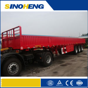 3 Axle 50t Side Wall Cargo Semitrailer with Twist Locks pictures & photos