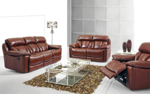 Modern Leather Sofa Bed 586# pictures & photos