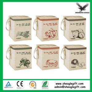 Canvas Jute Material Insulated Thermal Bag Customized pictures & photos