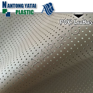 PVC Microfiber Leather with Perforated, Punching Hole for Car Seat Cover