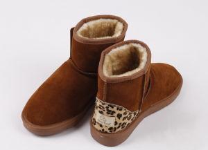 Sheepskin Leopard Snow Boots
