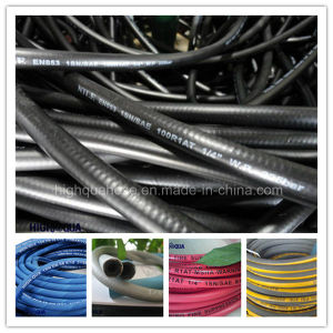 DIN/SAE Industry High Pressure Rubber Oil Hose Hydraulic Hose pictures & photos