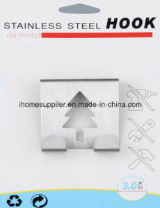 H1004 Stainless Steel Over Door Hook Hanging Hook Load 3.0kgs
