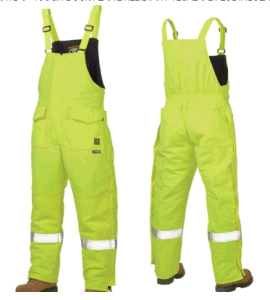 Tough Duck Flame Resistant Tecasafe Plus Insulated Hivis Bibs Workwear Pants pictures & photos