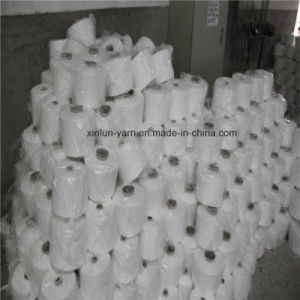 Ne 32s/1 Raw White Ring Spun Polyester Yarn pictures & photos