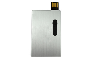 Aluminium Push-and Pull Card USB Stick Flash Drive 2.0 8GB 16GB 32GB pictures & photos