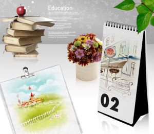 Custom Design 2015 New Year Desk Calendar Printing pictures & photos