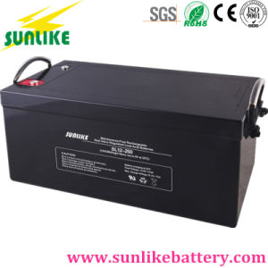 12V250ah Deep Cycle AGM Solar Power Lead Acid Battery pictures & photos