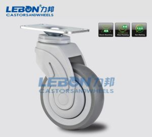 4 Inch 80kg Swivel Plastic Wheel Medical Caster