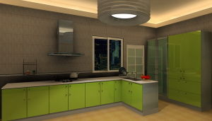 Stainless Steel Kitchen Furniture (MK040)