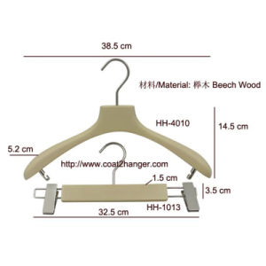 Beige Wooden Clothes Hanger for Women pictures & photos