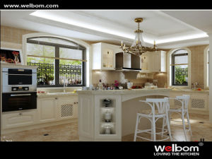 Welbom Hot Sale Classic Solid Wood Kitchen Furniture pictures & photos