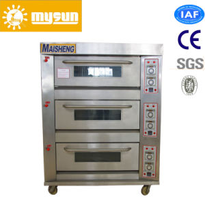 Mysun Commercial Stainless Gas Deck Oven with CE Ios BV pictures & photos