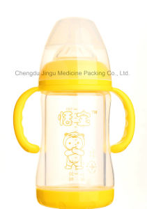 180 Glass Baby Bottle with Protective Cover pictures & photos
