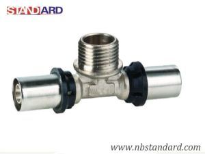 Press Pex-Al-Pex Fitting/Male Tee Thread Brass Fitting