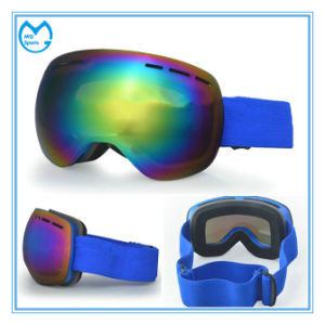 Customized Unisex PC Mirror Photochromic Ski Equipment Safety Goggles pictures & photos