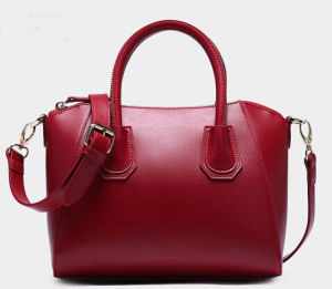 Fashionable Women PU Leather Handbag with Hight Quality (076)
