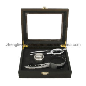 Champagne Opener Set in Window Wooden Box (600034-C) pictures & photos