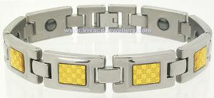 Gold Bracelet with Hematite (SB-822M)