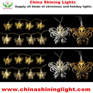 White Warm White LED Bulb Butterfly String Light pictures & photos