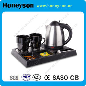 Honeyson Hotel Electric Water Kettle Tray Set Hotel Products pictures & photos