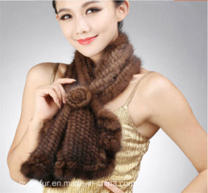 New Fashion Real Kintted Mink Fur Scarf