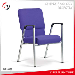 Blue Fabric Metal Armrest Training Chair (JC-106) pictures & photos