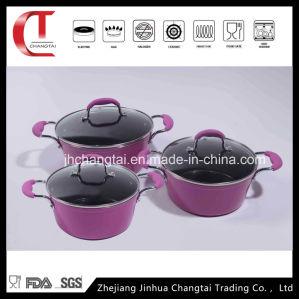 6 PCS Beautiful Forged Aluminum Sauce Pan Set