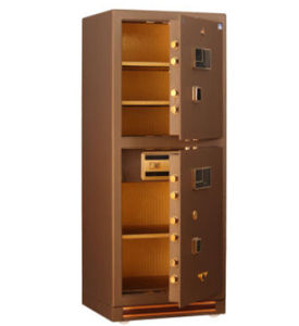 Two-Door Fingerprint Steel Jewelry Safe Box