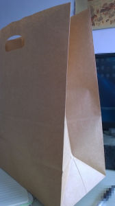 Handle Kraft Paper Bag 80GSM for Food, Clothes, Shopping pictures & photos