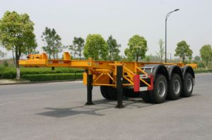 40ft Three Axles Gooseneck Container Trailer Chassis (HZZ9402TJZ) pictures & photos