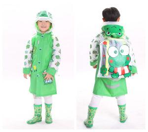 Kids Frog PVC Raincoat