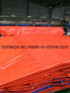 Orange/Blue PE Tarpaulin Cover, Poly Tarp Sheet pictures & photos