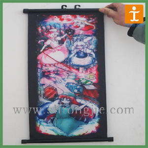 Cheap Full Color Print Indoor Ceiling Hanging Banner (TJ_FB0030) pictures & photos