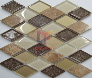 Ceramic Mix Glass and Marble Rhomb Shape Mosaic (CS246) pictures & photos