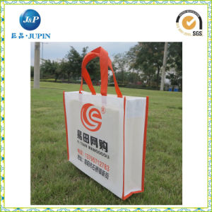 Recyclable Non Woven Fabric White Shopping Bags with Yellow Handle (JP-nwb008) pictures & photos