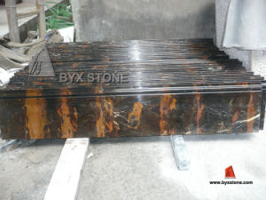 Nero Portoro Marble Skirting Border / Stone Moulding (BYX-SM) pictures & photos