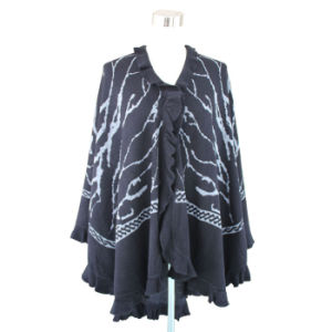 Lady Pashmina Acrylic Fashion Knitted Weaving Shawl (YKY4102) pictures & photos