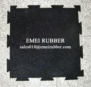 Rubber Sports Flooring Mat for Gym Sports with Colored Flecks pictures & photos