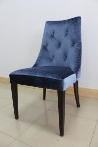 Hotel Furniture Dining Room Chair Solid Wood Low Back Fabric Dining Chair