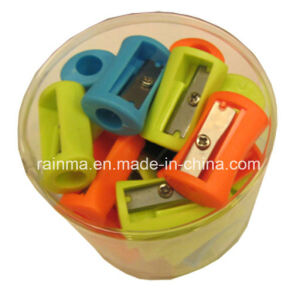 50PCS Plastic Pencil Sharpener in PVC Jar pictures & photos