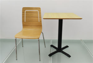 Double Seat Square Dining Table Furniture for Restaurant (FOH-CXSC75) pictures & photos