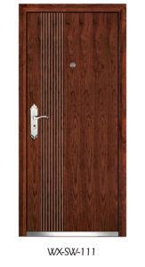 Competitive Steel Wooden Door (WX-SW-111) pictures & photos