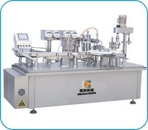 Automatic Injection Liquid Filling Machine with Capping Labeling Line pictures & photos