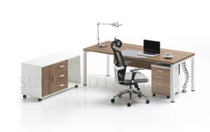 Modern Particle Board Office Furniture, Office Desk, Steel Legs (SZ-OD188) pictures & photos