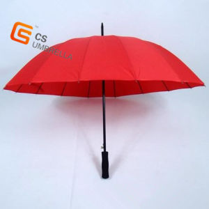 Red Color Golf Straight Umbrella (: YS-G1004A) pictures & photos