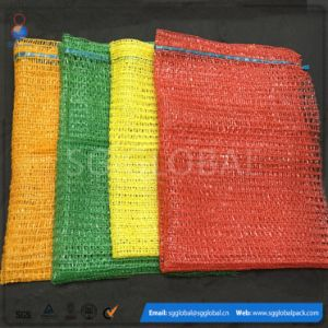 Hot Sale 50*80cm Red Green Yellow PE Raschel Sacks pictures & photos
