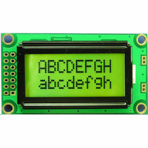 8 X 2 Yellow-Green Character LCD Module (TC802C-03)