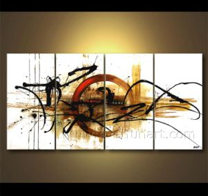 Wall Art Abstract Oil Painting on Canvas for Living Room (XD4-219) pictures & photos